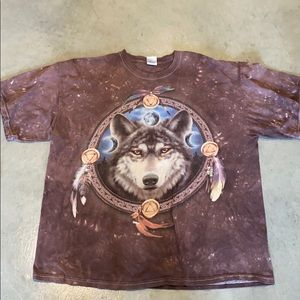 Wolf Tie Dye tee shirt